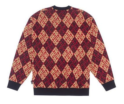 Fucking Awesome Sweaters Crew Neck Pullovers Wool Long Sleeves Skater Style Sweaters 3