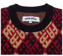 Fucking Awesome Sweaters Crew Neck Pullovers Wool Long Sleeves Skater Style Sweaters 4
