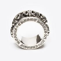 CHROME HEARTS BS FLARE Flower Patterns Unisex Street Style Silver Logo Rings