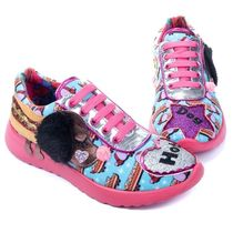 Irregular Choice Round Toe Lace-up Casual Style Other Animal Patterns