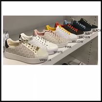 Michael Kors Casual Style Blended Fabrics Logo Low-Top Sneakers