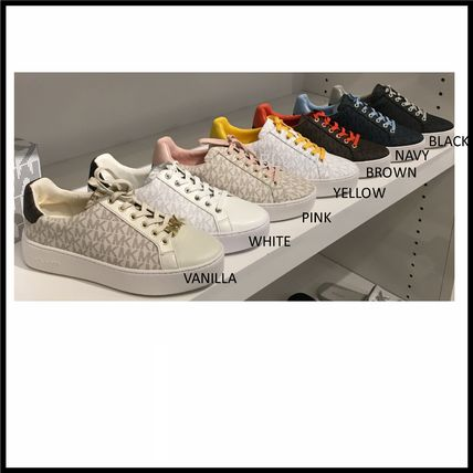 Casual Style Blended Fabrics Logo Low-Top Sneakers