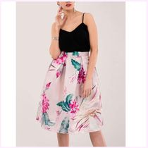closet Flower Patterns Casual Style Pleated Skirts Medium