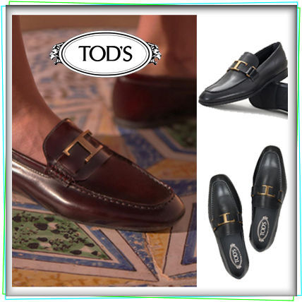 Moccasin Loafers Plain Leather Loafers & Slip-ons