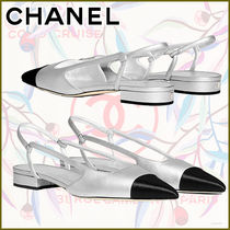 CHANEL Platform Casual Style Plain Block Heels Party Style