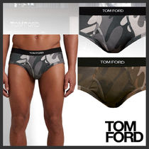 TOM FORD Camouflage Street Style Cotton Logo Briefs