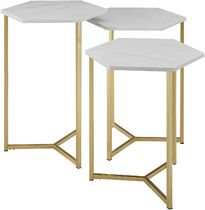 Co-ord Gold Furniture Night Stands Table & Chair