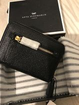 Anya Hindmarch Unisex Street Style Leather Long Wallet  Logo Accessories
