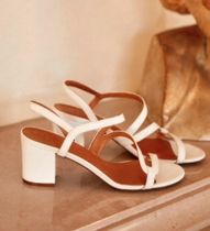 SEZANE Open Toe Block Heels Elegant Style Heeled Sandals