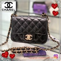 CHANEL MATELASSE Casual Style Lambskin 2WAY Leather Party Style Elegant Style