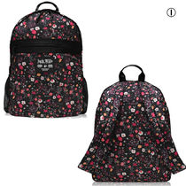 Jack Wills Flower Patterns Casual Style Office Style Logo Backpacks