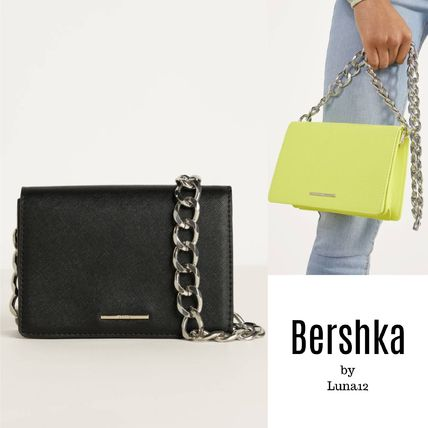 Casual Style Chain Plain Crossbody Shoulder Bags