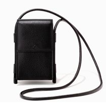 DAGNE DOVER Casual Style Plain Leather Crossbody Logo Shoulder Bags