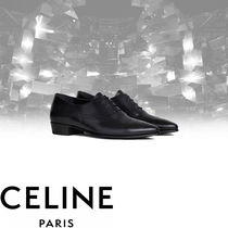 CELINE Street Style Plain Leather V Tips Oxfords