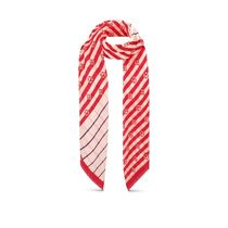 Louis Vuitton 2020 SS LV ESCALE SUMMER STRIPES PAREO STOLE red scarves
