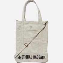 TYPO Casual Style A4 2WAY Crossbody Logo Totes