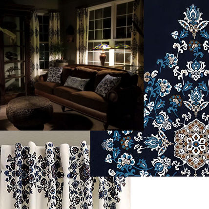 Flower Patterns Geometric Patterns Damask Ethnic Curtains