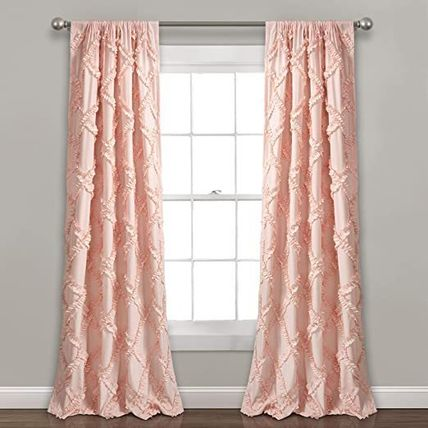 LUSH DECOR Plain Curtains