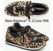 New Balance 996 Leopard Patterns Round Toe Casual Style Collaboration
