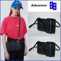 ADERERROR Casual Style Street Style Oversized Logo Shoulder Bags