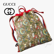 GUCCI Casual Style Other Animal Patterns Logo Handbags