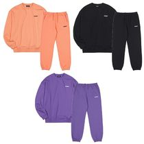 NERDY Unisex Street Style Oversized Sweats Two-Piece Sets