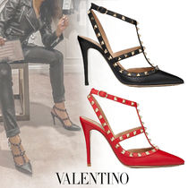 VALENTINO Casual Style Studded Pin Heels Elegant Style Bridal Shoes