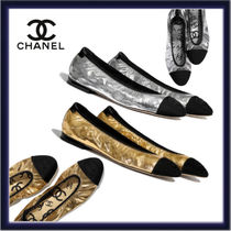 CHANEL Plain Toe Casual Style Plain Leather Party Style