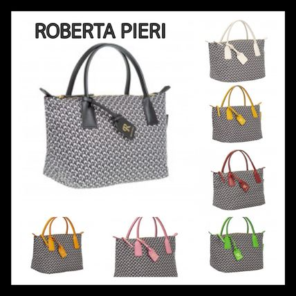 Suede Nylon Leather Totes