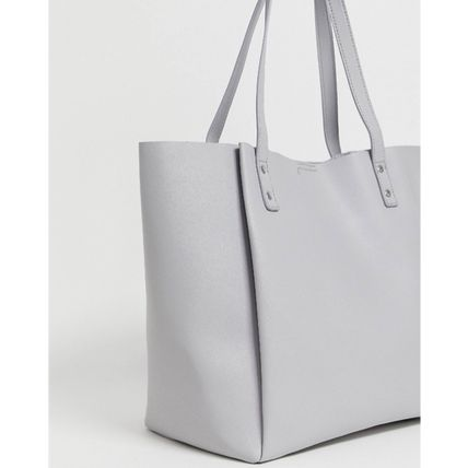 Casual Style Bag in Bag Plain Office Style Totes