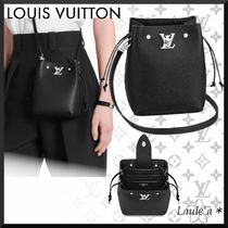 Louis Vuitton Casual Style 2WAY Plain Leather Party Style Purses