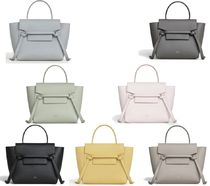 CELINE Belt Casual Style Calfskin Plain Handbags