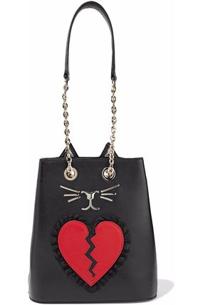 Heart Casual Style Leather Purses Crossbody Bucket Bags