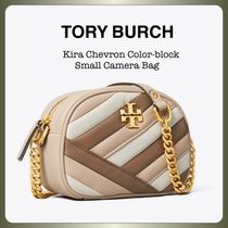 Tory Burch KIRA Casual Style Lambskin Chain Leather Party Style