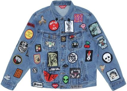 Supreme Denim Street Style Denim Jackets Jackets