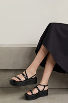 The Row Plain Leather Sandals