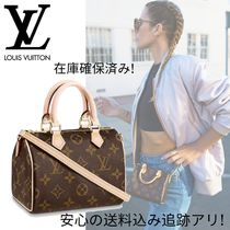 Louis Vuitton SPEEDY Canvas 2WAY Leather Logo Shoulder Bags
