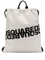 D SQUARED2 Casual Style Bi-color Leather Logo Backpacks