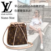 Louis Vuitton NOE Canvas 2WAY Leather Logo Shoulder Bags