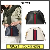 GUCCI Ophidia Stripes Casual Style Chain Plain Leather Party Style