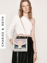 Charles&Keith Casual Style Faux Fur 2WAY Plain Party Style Office Style
