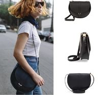 CLARE VIVIER Plain Leather Crossbody Shoulder Bags