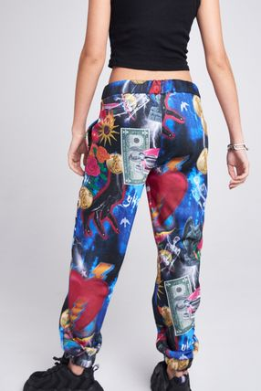 Printed Pants Tropical Patterns Unisex Street Style Pants