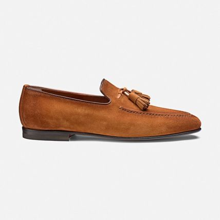 Moccasin Suede Plain Logo Loafers & Slip-ons