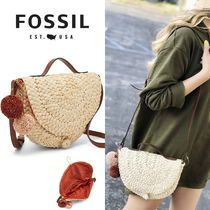 Fossil 2WAY Plain Crossbody Shoulder Bags
