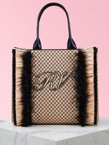 Roger Vivier Casual Style Elegant Style Logo Totes