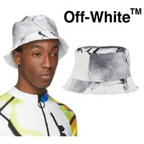 Off-White Unisex Street Style Bucket Hats Wide-brimmed Hats