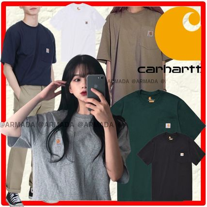 Carhartt More T-Shirts Unisex Street Style Cotton T-Shirts
