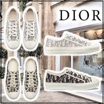 Christian Dior Monogram Rubber Sole Elegant Style Low-Top Sneakers