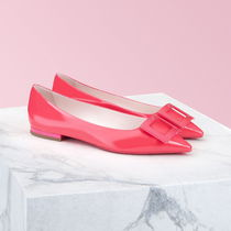 Roger Vivier Casual Style Plain Leather Block Heels Party Style